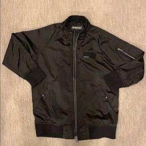 Black Satin Jacket Members Only Jacket
